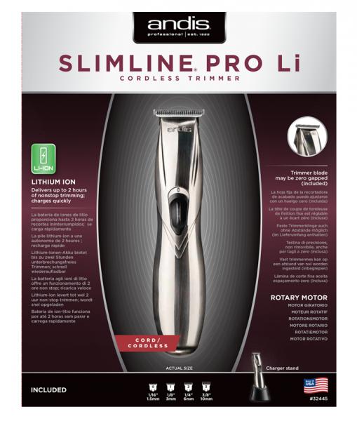 Andis Slimline Pro Li T-blade Silver 2
