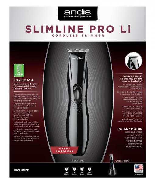 Andis Slimline Pro Li T-blade Black 3