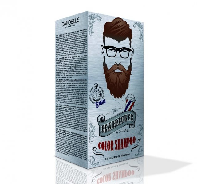 Beardburys farbiace šampón na vlasy a fúzy-tmavo hnedý 2
