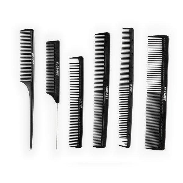 Sada hrebeňov na strihanie Barber Comb set 1