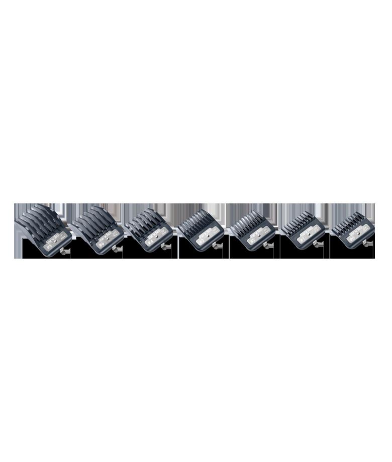 Sada plastových hřebenů Andis Master Premium Metal Clip 3