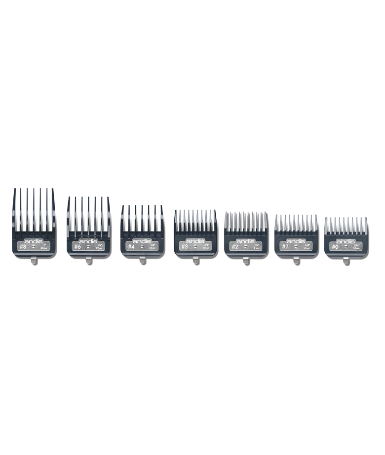Sada plastových hřebenů Andis Master Premium Metal Clip 2