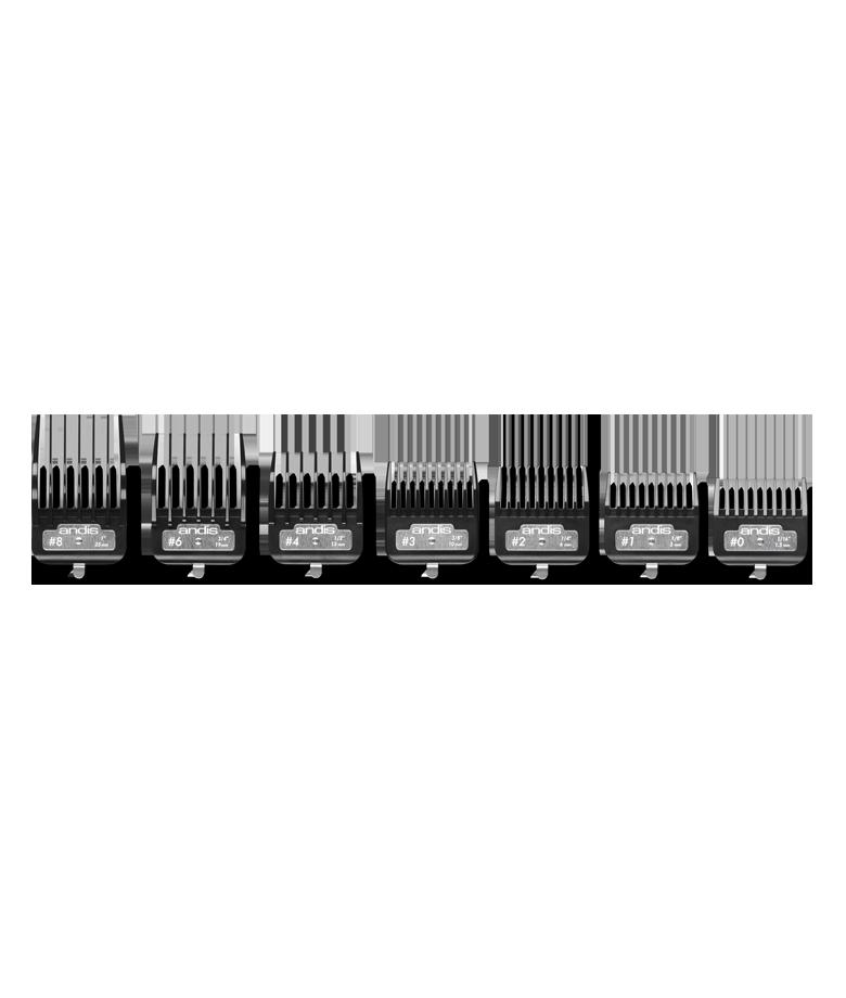 Sada plastových hřebenů Andis BG Series Premium Metal Clip 2