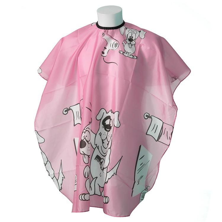 """Detská kadernícka pláštenka """"Doggy Pink"""""""