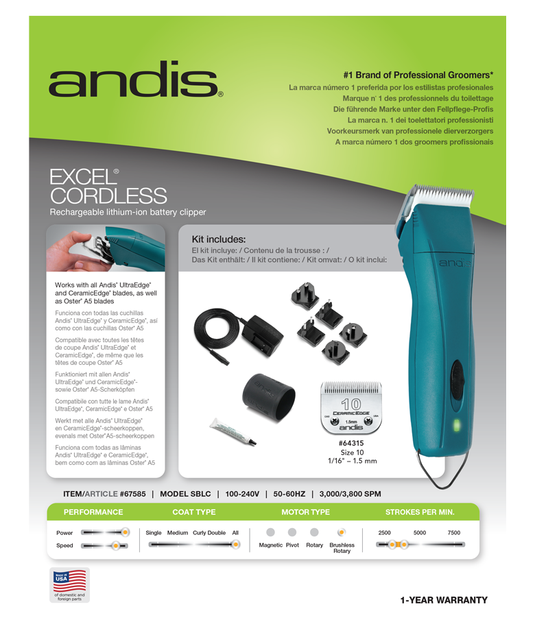 Andis Excel Cordless  4